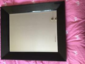 Quality black framed large beveled mirror