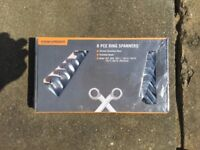 8 PCE RING SPANNERS