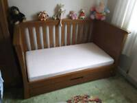 Nursery furniture and accessories, solid oak, excellent condition.