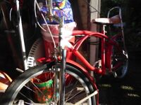 Old collectible vintage Bike Bicycle, A Mark One 1, Red American Cruiser Style Bratz Angel Bike
