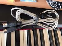 USB Midi Cable Lead Adaptor Keyboard Interface to PC For Mac & Windows