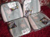 X4 Garden Cushions/Pads - Jade Mix - 100% Cotton - NEW.