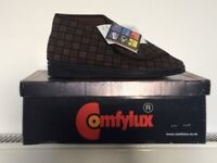 ComfyLux Brand new. Size 7. Brown Check. RRP 18.99 my price £5