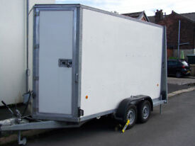 Ifor Williams BV125g Box trailer with ramp and barn doors