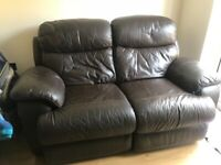 2 Piece Leather reclining suite