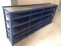 Heavy Duty Industrial Blue Steel Shelving Unit 244cm W x 40cm D x 102cm T - 2 Available