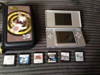 Silver ds lite with 7 games includes Pokemon Zelda final fantasy