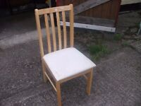 White Based Dining Chair Delivery Available