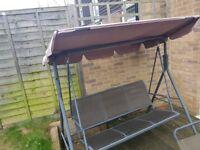 3 seat outdoor swing