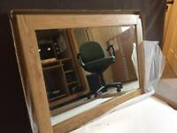 Solid oak mirror 102cm by 72cm