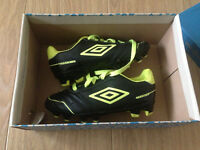 Umbro Premio FG Junior yellow/black football boots size 11