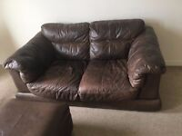 Sofa and Footstool with storage