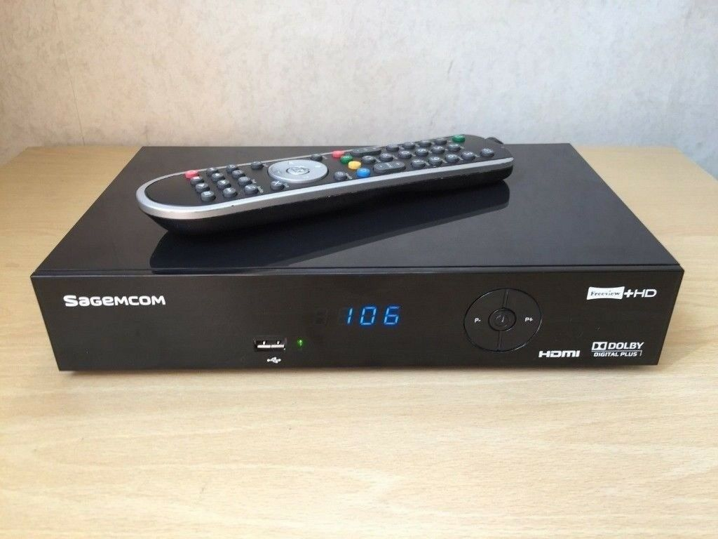 Sagemcom Freeview + Hdmi TV DVR recorder  USB  Dolby stereo  1080p  Remote  control  | in York, North Yorkshire | Gumtree