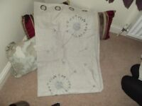 Pair of Dunelm curtains 47 inch x 73 inch drop