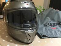 Motor bike crash helmet