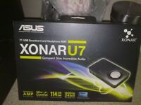 xonar U7 soundcard and headphone amp in excellent condition £40