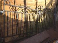 Wrough iron driveway gates solid original 1925