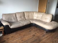 Leather corner sofa dfs free