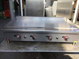 COMMERCIAL CATERING NEW GAS 120 CM FLAT GRILL FAST FOOD RESTAURANT CAFE KEBAB TAKE AWAY SHOP