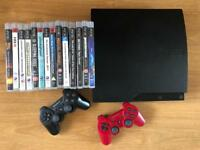 PS3 slim 160GB inc 14 games and 2 wireless remotes