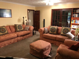 Three-Piece Suite Plus Footstool To Good Home