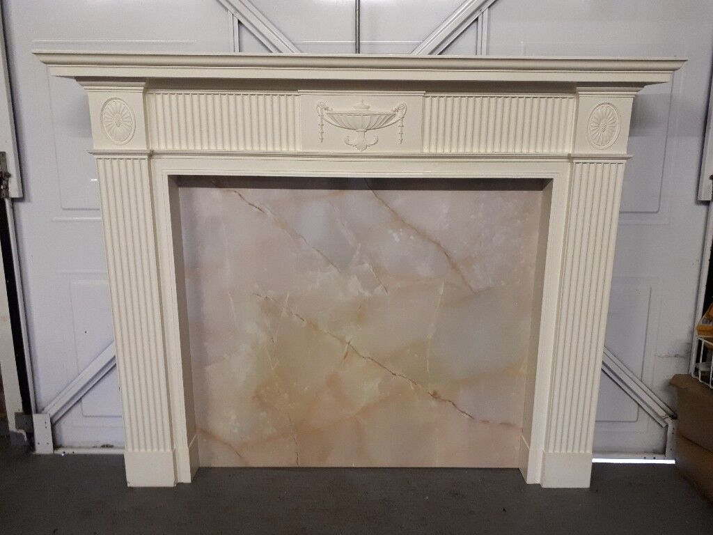 Admirable Fire Surround Mantlepiece White Plastic Or Fibreglass Moulded Good Condition Buyer Collects In Ottery St Mary Devon Gumtree Download Free Architecture Designs Lukepmadebymaigaardcom