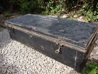 "Steel RAF Storage Trunk. 42""x17""x11""."