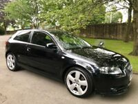 2008 Audi A3 S line 2.0 Tdi *170bhp black leather* one owner from new!