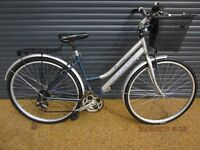 "LADIES ALUMINIUM STEPTHROUGH TOWN BIKE IN VERY GOOD CONDITION.. (18"" / 46cm LIGHTWEIGHT FRAME)."