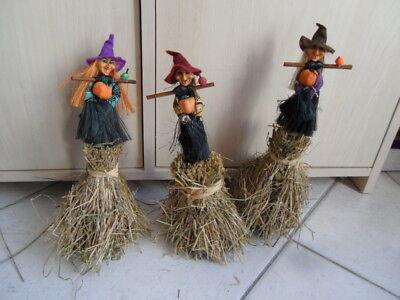 Auf Halloween (Halloween Dekoration 3 Hexen auf Heuhaufen )