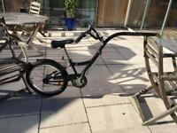 Tag along bicycle