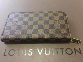 Louis Vuitton Brown Chequered woman's wallet purse for sale