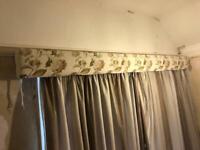 Pelmet and curtain rail