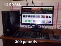 hp slimline desktop pc with monitor