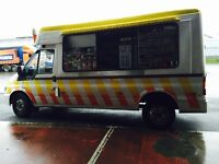 Transit ice cream van . Cocozza built . 54 plate .