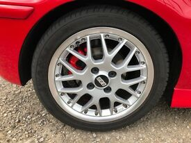 "4x100 15"" bbs rx2 alloys and good tyres"
