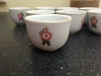 Chinese tea cups x8