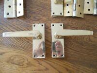 3 Real brass indoor stylish and durable Door handles complete sets