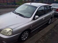 2004 LHD LEFT HAND DRIVE KIA RIO 1.5 PETROL, 1 OWNER,VGC, SERVICE BOOK,5 DOOR HATUC,5 SPEED, SILVER,