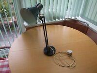 BHS anglepoise style black table/desk lamp
