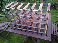 old wood/metal wine rack