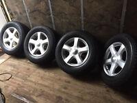 new isuzu dmax alloy wheels x4 255 65 17 bridgestone tyres 6 stud and trooper pick up hilux l200 d22