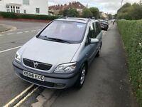 Vauxhall Zafira 1.8 Petrol, 7 Seater, 12 months MOT, 1 owner @£795