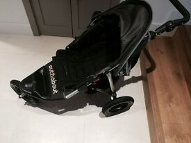 Out n About Single 360 Black Stroller