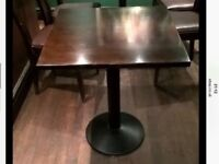 Joblot x 30 Restaurant Pub cafe solid wood tables.