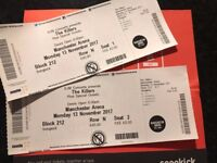 2 x The Killers Tickets - 13th November Manchester Arena
