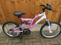 "GIRLS BIKE 20"" WHEELS GREAT CONDITION, FULLY WORKING."