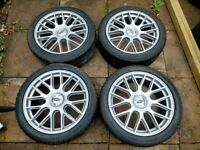 BMW 19 inch ALLOY WHEELS TEAM DYNAMICS WINTER TYRES MADE IN ENGLAND 1 3 5 6 7 8 SERIES