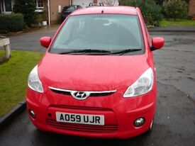 Hyundai i10 Automatic Car. 2059 Reg: Colour Red.