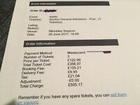 Adele Tickets - Wembley 28 June 3 General Admission